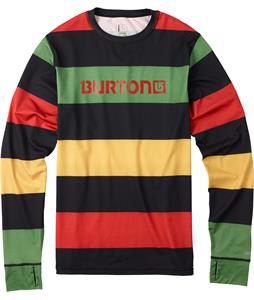 Burton Midweight Crew Baselayer Top Pop Stripe Rasta