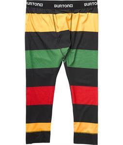 Burton Midweight Shant Baselayer Pants Pop Stripe Rasta