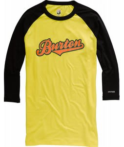 Burton Midweight 3/4 Baseball First Layer Shirt Gold Medal