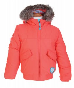 Burton Mini Lavish Bomber Snowboard Jacket Hot Coral