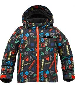 Burton Minishred Amped Snowboard Jacket Iconic Print