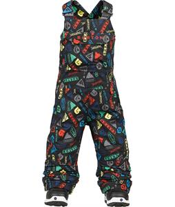 Burton Minishred Cyclops Bib Snowboard Pants Iconic Print