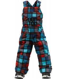 Burton Minishred Cyclops Bib Snowboard Pants True Black Revolt Plaid