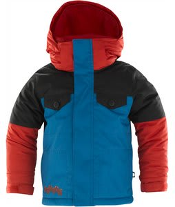 Burton Minishred Fray Snowboard Jacket Cardinal Colorblock