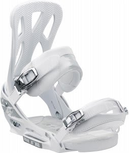 Burton Mission EST Snowboard Bindings White