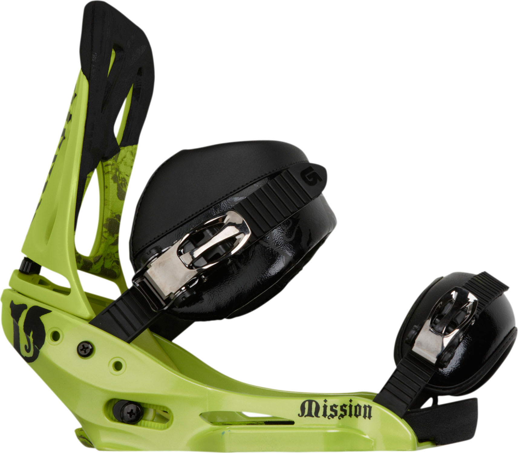 Shop for Burton Mission EST Cant Snowboard Bindings Lime - Men's
