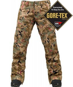 Burton Mosaic Gore-Tex Snowboard Pants Olive Painted Camo