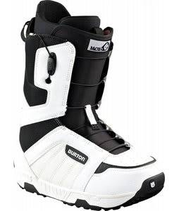 Burton Moto Snowboard Boots White/Black