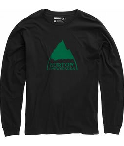 Burton Mountain Logo L/S T-Shirt True Black