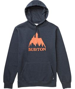 Burton Mountain Logo Recycle Pullover Hoodie Heather Eclipse