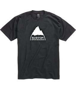 Burton Mountain Logo T-Shirt Heather True Black