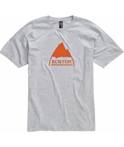 Burton Mountain Logo T-Shirt Heather Grey