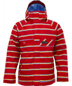 Burton Poacher Snowboard Jacket Cardinal Marcos Stripe