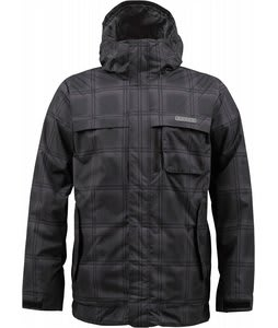 Burton Poacher Snowboard Jacket True Black Ghost Plaid