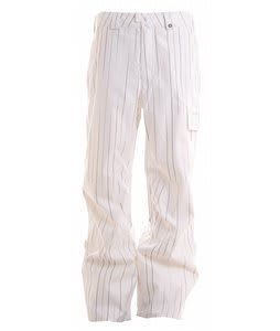 Burton Poacher Snowboard Pants White Faded Pinstripe Print