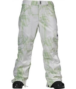 Burton Poacher Snowboard Pant Gator Green Photocopy Plaid Print