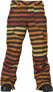 Burton Poacher Snowboard Pants Hydrant Big Stripe Fade