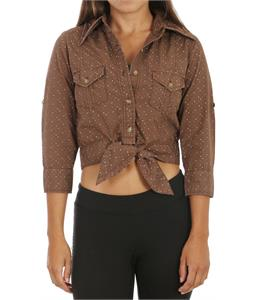 Burton Pop Your Collar Shirt Brnt Chestnut Polka Sqrs