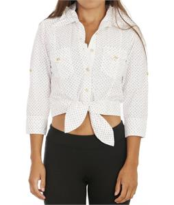 Burton Pop Your Collar Shirt Antiq Ivory Polka Sqrs