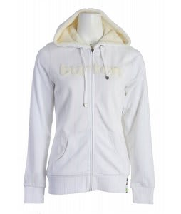 Burton Premier Full Zip Hoodie Bright White