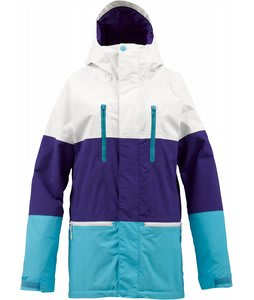 Burton Prism Gore-Tex Snowboard Jacket Bright White Colorblock