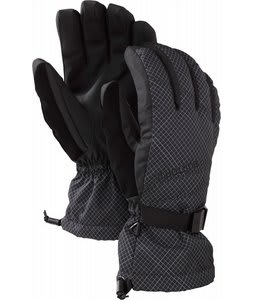 Burton Profile Gloves True Black Isometric Plaid