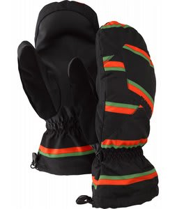 Burton Profile Mittens True Black Marcos Stripe
