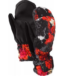 Burton Profile 12 Under Mittens Risque Flowers On Crack Print