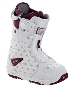 Burton Q Snowboard Boots White/Purple