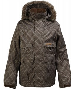 Burton Ranger Snowboard Jacket Mocha Drain Jacquard