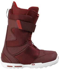 Burton Raptor Snowboard Boots Dark Red/White