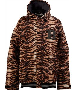 Burton Restricted Booth Team Snowboard Jacket Orange Tiger Prt