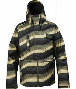 Burton Restricted Ratched Snowboard Jacket Green Morph Stp