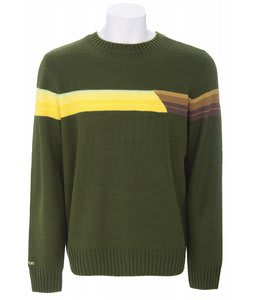 Burton Retro Stripe Sweater Chive