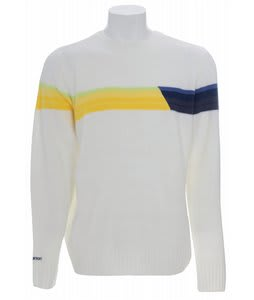 Burton Retro Stripe Sweater Bright White