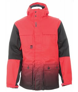 Burton Ronin Transition Snowboard Jacket True Red/True Blk Fade Sub