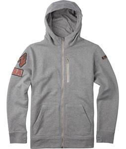Burton Roe USA Fullzip Hoodie Heather Grey