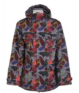Burton Ronin Gore Cheetah Snowboard Jacket Puffin Print
