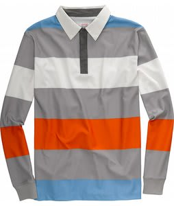 Burton Rugby First Layer Shirt Stout White/Iron Grey/Orangemen