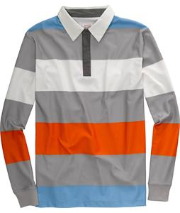 Burton Rugby Shirt Stout White/Iron Grey/Orangemen