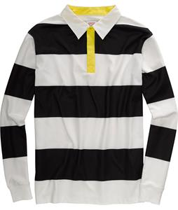 Burton Rugby Shirt True Black/Stout White