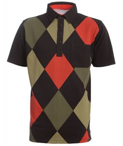 Burton Runaway Argyle S/S Polo Shirt True Black