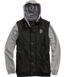 Burton Sabath Fleece Jacket Black Denim