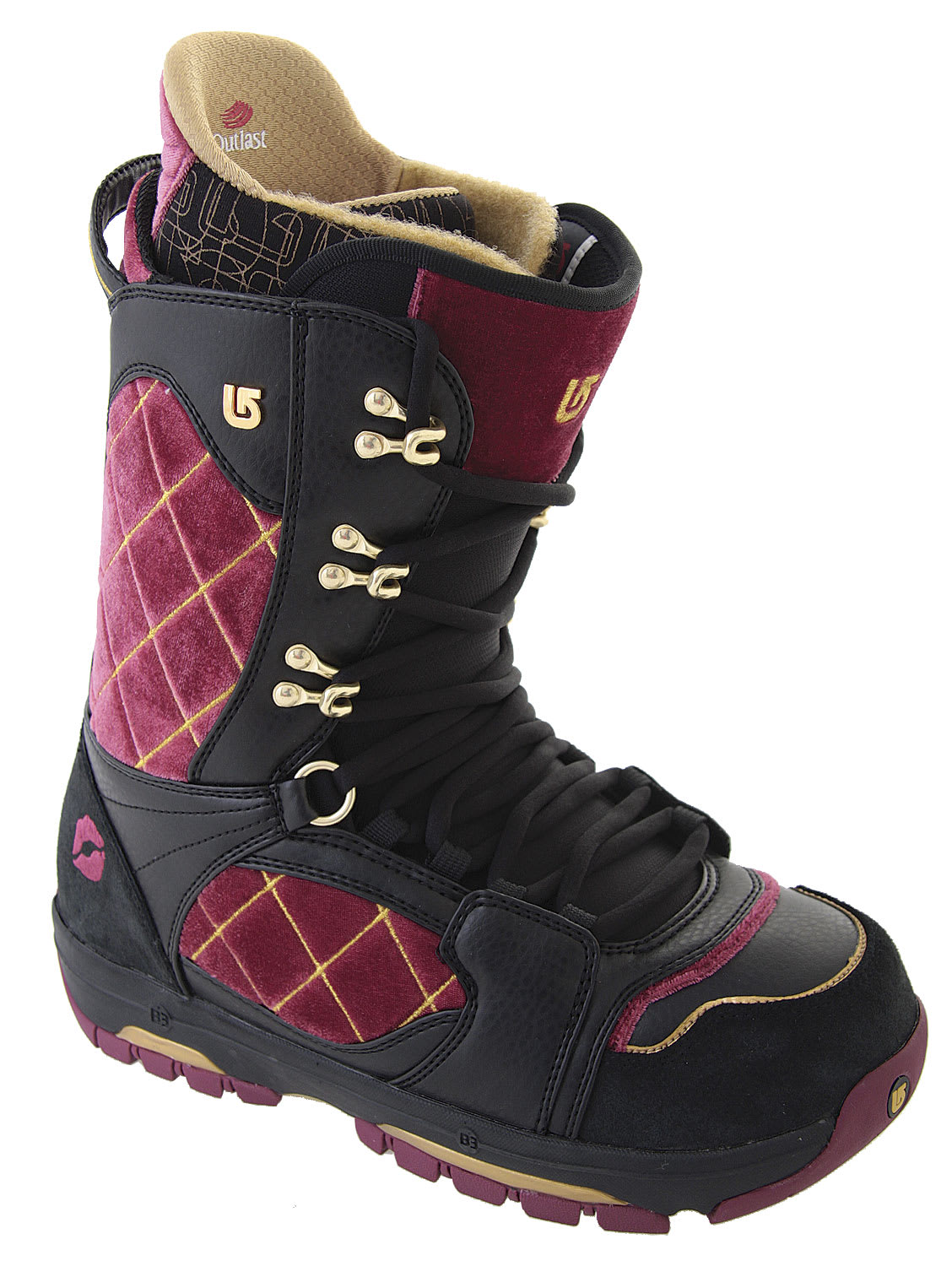 Shop for Burton Sabbath Snowboard Boots Black/Crushed Velvet - Kid's