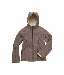Burton Sanctuary Softshell Jacket Antique Ivory Feather Jacquard