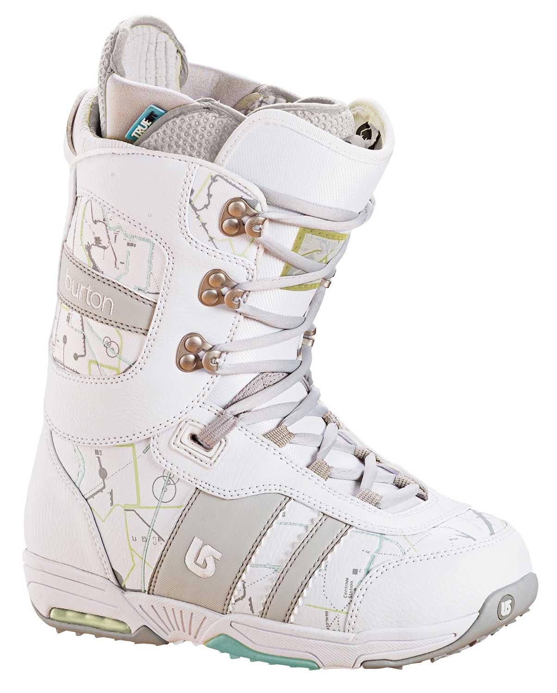 Burton Sapphire Snowboard Boot White/Lt Grey Womens Sz 4