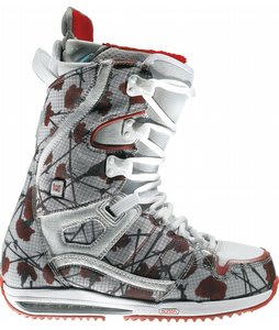 Burton Sapphire Snowboard Boots Flowers On Canvas