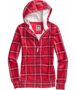 Burton Scoop Hoodie Berry Source Plaid