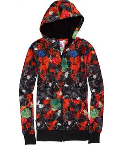 Burton Scoop Hoodie Flowers On Crack Print