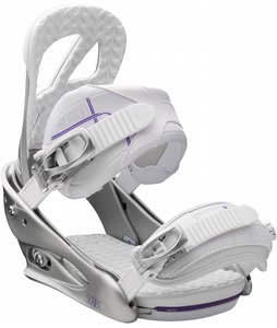 Burton Scribe Snowboard Bindings White Violet